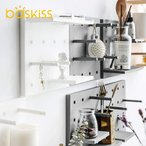 Baskiss 北欧インテリア DIY活用ウォールハンガー 壁掛けフック 壁掛け棚 飾り棚 壁飾り 収納ウォールシェルフ 穴あけ不要/ネジ止