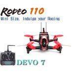 【ラジコンヘリコプター】WALKERA ワルケラ /Rodeo 110(ロデオ) ミニクアッドコプター + DEVO7送信機(カメラ、バッテリー、日本語マニュアル付)充電器は別売