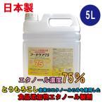 【業務用サイズ】日本製【フードケア75】アルコール除菌剤 5L│食品添加物エタノール製剤