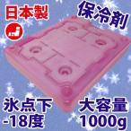 氷点下-18度 ハードタイプ 保冷剤 1000g 日本製 キャンプ クーラーボックス