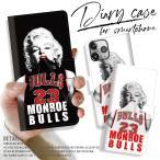 手帳型スマートフォンケース iPhone FUCK BITCH Marilyn Monroe マリリンモンロー ブルズ バスケ 23 NBA セクシー オリジナル 海外 セレブ ストリート