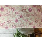 プリント 刺繍  北欧 カーテン 生地 バラ柄 ローズ 切売り 布 端切れ ハギレ はぎれ断熱 保温 おしゃれ 送料無料 巾150cmx0.5m単位