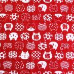 猫文様 ドビー生地 ( 猫 日本 甚平 浴衣 入園 入学 小学生 中学生 学校 バッグ 雑貨 インテリア 巾着 スクールバッグ ポーチ )