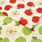 りんごさん スムース生地 ( ベビー タオル 布団カバー おくるみ ベビー用品 薄地ニット ) 50cm単位