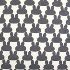 ≪会員5%引≫うさぎシルエット ナイロンオックス生地 ( ハンドメイド 撥水 エコバッグ お買い物 ポーチ 内袋 うさぎ ) 50cm単位