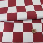 西陣織物 紅白市松柄4.4cm角(えんじ/白)