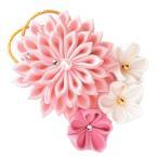 手作りキット 正絹つまみ細工 煌めきのブローチ(ピンク)