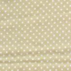 ダブルガーゼプリント/夏色 約2mm玉 水玉 ドット ベージュ系地 10色 1m単位 ポイント
