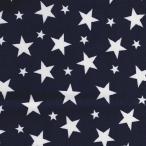 秋祭り期間限定特価/ツイル星プリント/星の王子様 ブルー 4色あります 1m単位で切り売りいたします