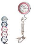 ナース 小物 グッズ 看護 医療 介護 時計 日付・曜日表示付きショートチェーンウォッチ