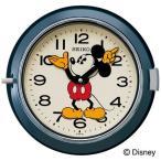 セイコー SEIKO 掛け時計 壁掛け FS504L ディズニー ミッキー ミッキー&フレンズ ネイビー レトロスタイル