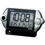 セイコー SEIKO ピクシス 目覚まし時計 置き時計 NR522K ライデン 大音量 デジタル 電波時計 音量調節 カレンダー 温度計 湿度計