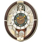 セイコー SEIKO 掛け時計 壁掛け からくり時計 RE571B 電波時計 メロディ 音量調節 スワロフスキー