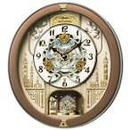 セイコー SEIKO 掛け時計 からくり時計 RE573B 電波時計 メロディ 音量調節 スワロフスキー
