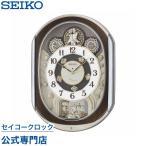 セイコー SEIKO 掛け時計 壁掛け からくり時計 RE578B 電波時計 メロディ 音量調節 スイープ 静か 音がしない スワロフスキー