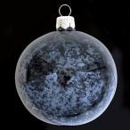 クリスマスツリーオーナメント VITBIS ガラスボール クリア×ネイビー 4個入り ポーランド製 吹きガラス正規品