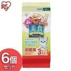 キャットフード 安全 猫 ご飯 エサ 美食メニュー アイリスオーヤマ 栄養補完食 猫用 ツナ一本仕込み かつおぶし入りゼリー仕立て 6個セット 18パック P-BI60KJ