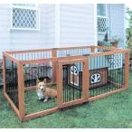 犬 ゲージ ケージ サークル 木製ペットサークル6枚セット KS-906S ブラウン 屋外用