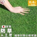 人工芝 ロール マット 2m×4m 芝丈3.5cm 防草人工芝 ドッグラン 庭 BP-3524 アイリスオーヤマ