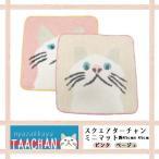 かわいい白猫ターチャンのミニマット