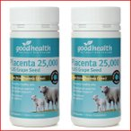 プラセンタ 羊 25000mg サプリメント ニュージーランド 産地直送 グッドヘルス good health 2個セット