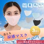 冷感マスク 夏用マスク 涼感マスク メッシュ 接触冷感 夏 マスク 涼しい 洗える ひんやり 3枚 大人 個包装 白 黒 ホワイト