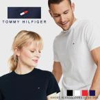 トミーヒルフィガー tommy hilfiger トミー ヒルフィガー tシャツ 白 黒 白T TOMMY HILFIGER Tシャツ クールネック Vネック 半袖 男女兼用 刺繍 ブランド