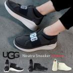 UGG ニュートラ スニーカー レディース スリッポン アグ ロゴ プリント Neutra Sneaker 1095097 ブラック チャコール ホワイト