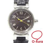 値下げしました ルイ ヴィトン 腕時計 タンブール ボーイズ クォーツ SS 革ベルト Q1211 電池式 中古