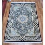 ペルシャ絨毯・シルク100% 高級手織りカーペット 203×134cm
