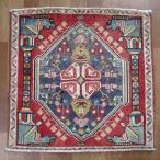 クーポンで40%OFF!ギャッベ ギャベ 座布団 カシュガイ族のミニ絨毯 62×63cm