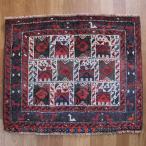 クーポンで40%OFF!ギャッベ ギャベ 座布団 カシュガイ族のミニ絨毯 63×75cm