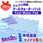 《おまけ付》 国産 朝までひんやり♪水を入れて使う 敷き パッド! 冷却 快眠 クール ウォーター パッド ハーフ サイズ 約95×43cm