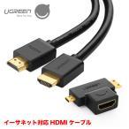 HDMIケーブル 2M イーサネット対応 Mini HDMI Micro HDMI 変換アダプタ セット HD129 30117 NP
