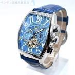 海外並行輸入品 トレンド 海外ブランド 高級腕時計 スケルトン 革ベルト フランクミュラー好きな方必見 h-136