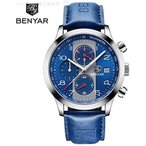 腕時計メンズ レザーストラップ BENYAR ファッション ブランドクォーツ時計時計 Masculi