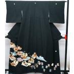 中古 安心価格 黒留袖 正絹 十二単 五つ紋 比翼仕立て