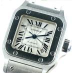 中古美品 Cartier カルティエ レディース腕時計 サントス ガルベ SM オートマチック 自動巻き W20054D6