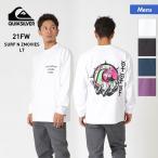 QUIKSILVER/クイックシルバー メンズ ロングTシャツ ロンT 長袖Tシャツ ティーシャツ バックプリント ロゴ QLT214069