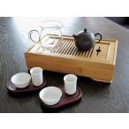 中国茶器竹茶盤セット