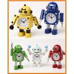 OCIOCI 目覚まし時計 めざまし時計 子供 こども アナログ (ロボット型 音と光でお知らせ プレゼントにも 全10種類)