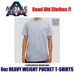 アルスタイル 6オンス ポケットTシャツ グレー 半袖 無地 メンズ レディース ユニセックス ALSTYLE AAA 6oz POCKET T-SHIRTS T1305 ATHLETIC HEATHER GRAY