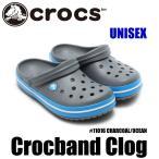 ショッピングサボ クロックス クロックバンド サンダル レディース メンズ クロッグ 軽量 アウトドア 定番 チャコールオーシャン CROCS CROCKBAND CHARCOAL