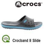 クロックス クロックバンド 2.0 スライド シャワーサンダル メンズ レディース サンダル クロック グレー ユニセックス crocs Crocband II Slide Gray
