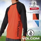 VOLCOM/ボルコムメンズ長袖ラッシュガードラッシュTシャツタイププルオーバー水着紫外線カットUVカットUPF50+サーフィンウェアN0311401