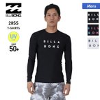 BILLABONG/ビラボン メンズ 長袖 ラッシュガード Tシャツ 吸汗速乾 水着 ロゴ 紫外線カット UPF50+ ビーチ 海水浴 プール BA011-853