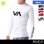 RVCA/ルーカ メンズ 長袖ラッシュガード Tシャツタイプ UVカット 水着 プール 海水浴 AG049-M01