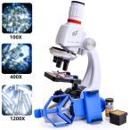 子供顕微鏡セット 初心者顕微鏡セット マイクロスコープ ミニ顕微鏡 LEDとミラー照明付き プレゼント 小学生 中学生 高校生 知育 おもちゃ