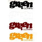 GREEN CLOTHING (グリーンクロージング,ステッカー) DIE CUT STICKER LOGO SMALL