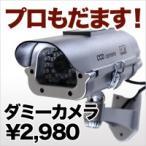 防犯カメラ LED点灯でばれにくいダミー防犯カメラ 屋外ダミー